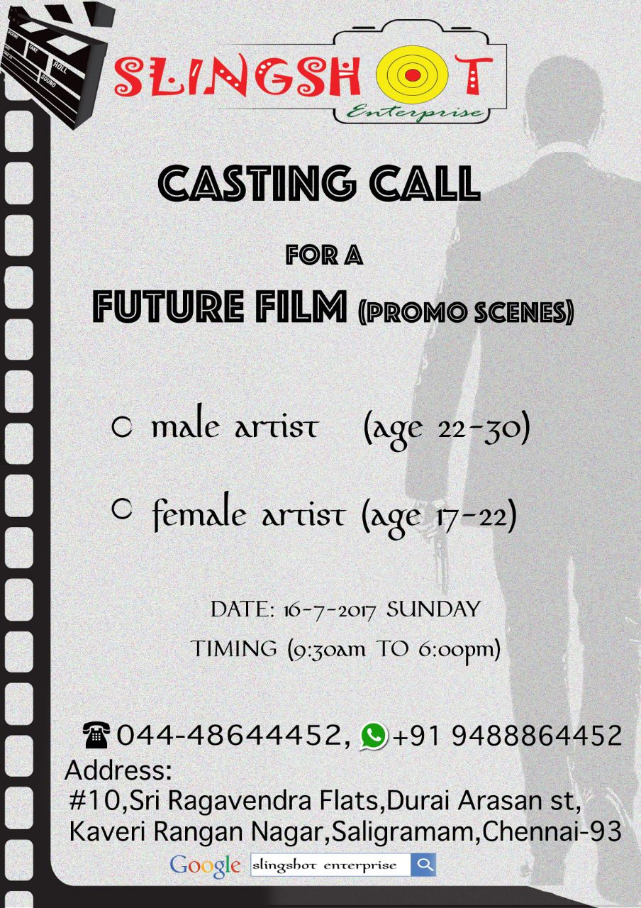 Casting Call From Slingshot Enterprise For Feature Film Promo Scenes