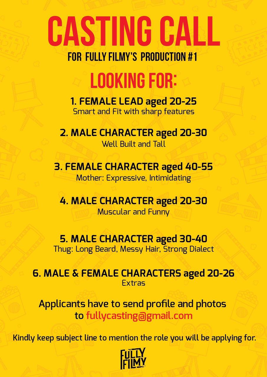 Casting Call From Fully Filmys Production For Feature Film