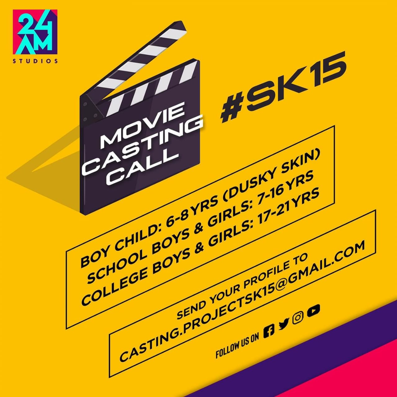 Tamil Movie Casting Call For SK15 » Star Casting Calls